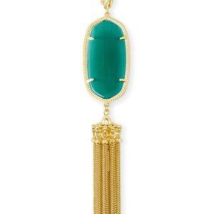 Kendra Scott Rayne Necklace in Emerald Cat's Eye